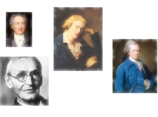 Goehte, Hesse, Lessing, Schiller.